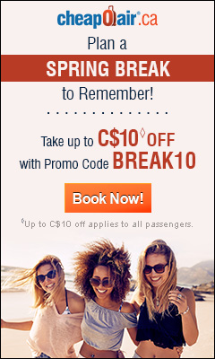 Start Saving on Holiday Travel! Get up to C$20 off with Promo Code HOLIDAY20 Book Now!