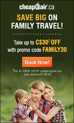 Save Big on Family Travel!  Take up to $30◊ off with Promo Code FAMILY30 Book Now!