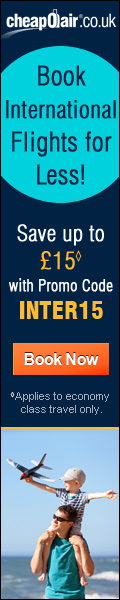 Book International Flights for Less! Save up to £15◊ with Promo Code INTER15. Book Now!