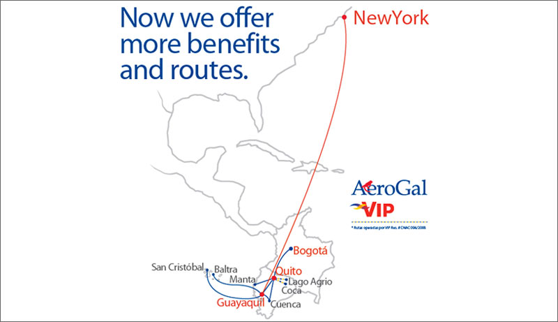 Aerogal Route
