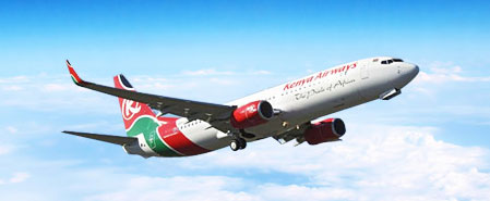 Earn miles with Kenya Airways
