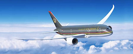 Earn miles with Royal Jordanian