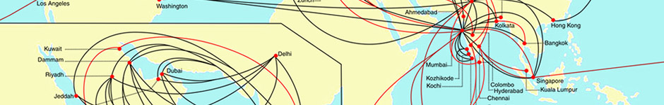Air Route Map of India Air India Route Map