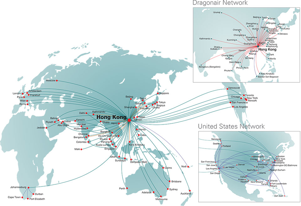 Cathay Pacific Route Map