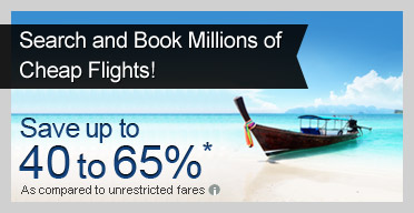 Save upto 40 to 65% on Air Tickets