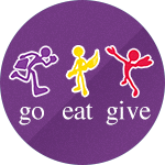 Illustration of Go Eat Give Logo
