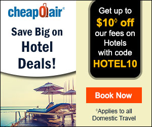 Jump for a GREAT Summer Stay!  Save up to $10 on Hotels with Code SUMMER10