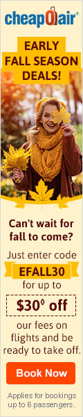 Enjoy Thanksgiving travel savings when you enter code THANKS25 for up to $25 off our fees on flights, hotels, and rentals. Book today!