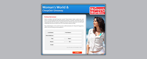 Womans world giveaways