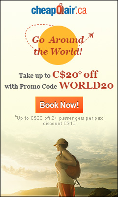 Go Around the World!  Take up to $20◊ off with Promo Code WORLD20 Book Now!