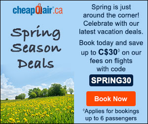 New Year's Travel Deals Celebrate the new year with new travel deals! Book now with code NY25 for up to C$25 off our fees on cheap flight deals