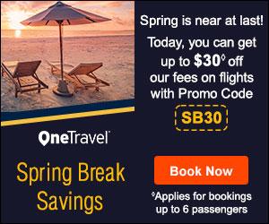Spring Break Travel Savings! 300 x 250