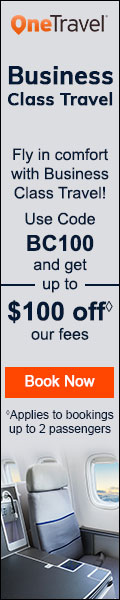 Business Class Travel !! Get up to $100 off◊ our fees on flights with promo code BC100. Book Now!!