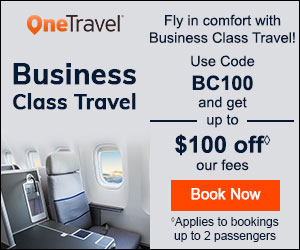Business Class Sale! Take up to $100◊ off our fees with Promo Code BC100. Book Now!