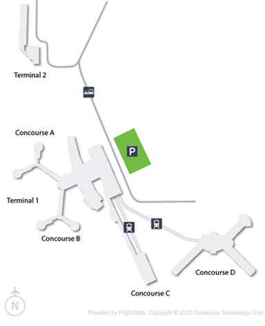 Cheap Flights To Mccarran International Airport LAS Airline Tickets - Las airport map