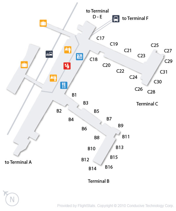 Cheap Flights To Philadelphia International Airport PHL Airline - Phl terminal map