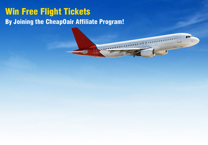 Win Free Flight Tickets by Joining the CheapOair Affiliate