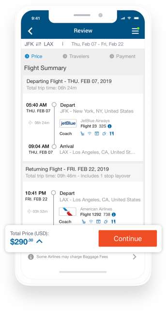 Free Travel App for iPhone, iPad & Android Mobile Phones – CheapOair