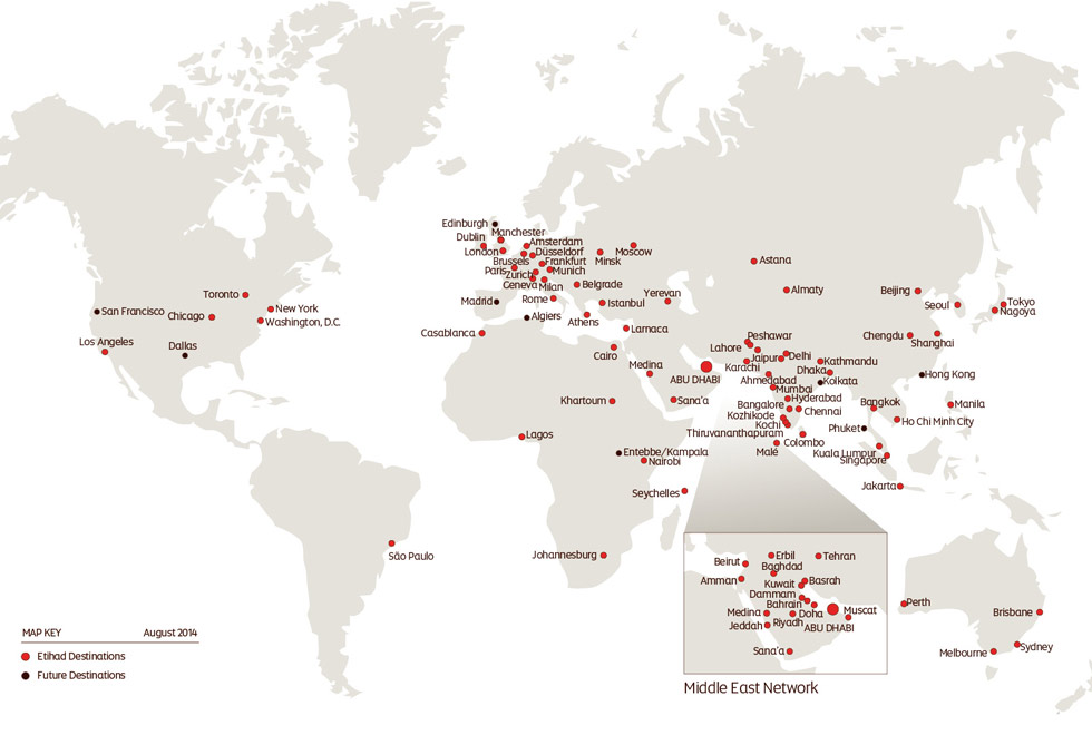 Etihad Airways Route