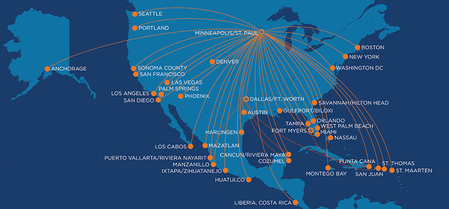 Sun Country Airlines Route