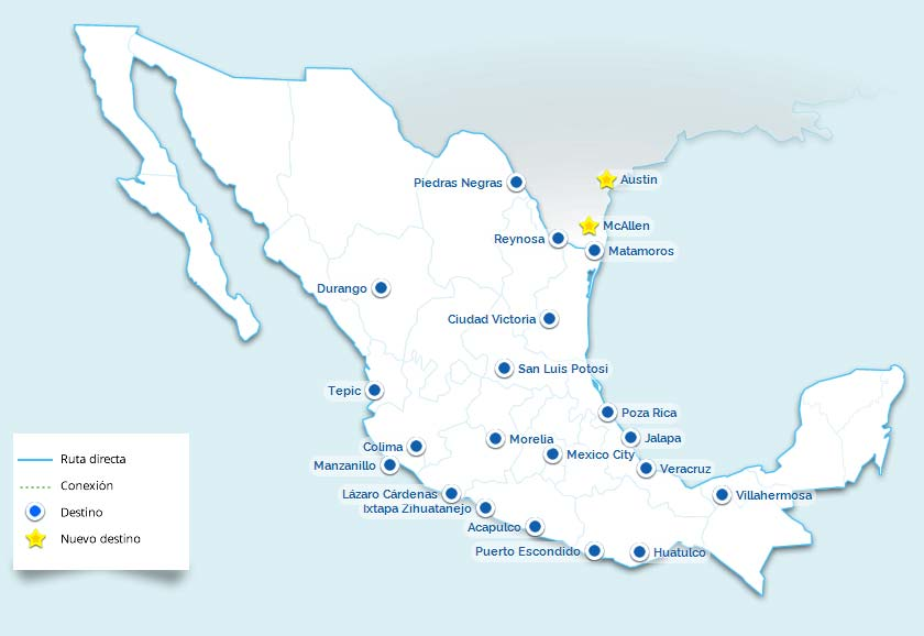 Aeromar Airlines Route