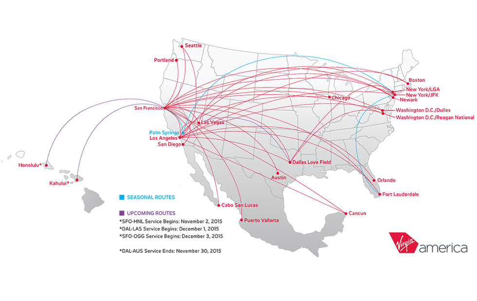 Virgin America Route