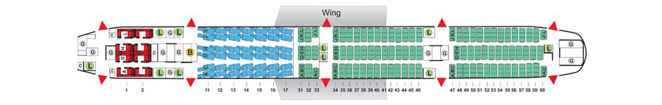Air China Boeing B777 Seat Plan