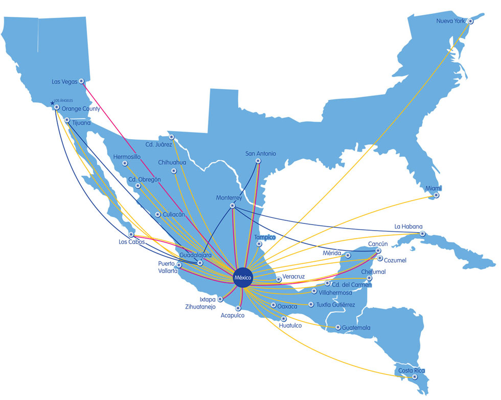 Interjet Route Map