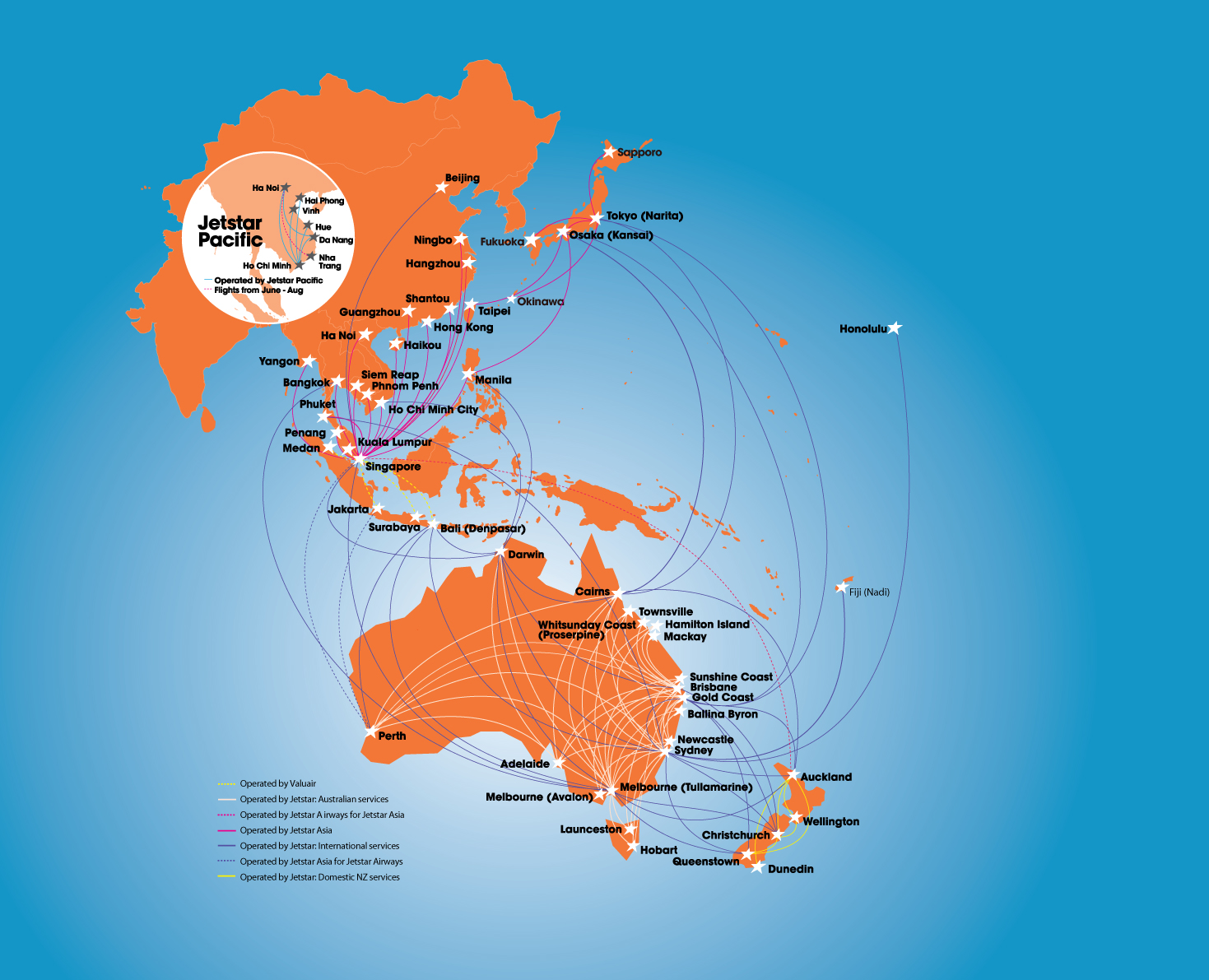 Jetstar Airways Flights Tickets  Promo Codes  OneTravel - Us airways travel map
