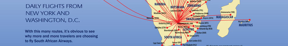 South African Airways Route Map