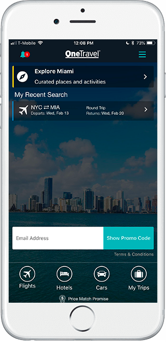 mobile travel app for your iphone ipad android onetravel
